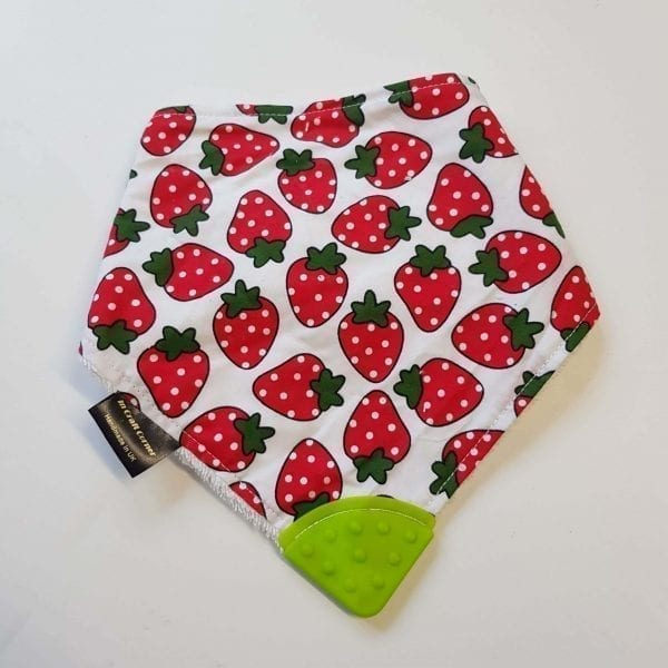 strawberry teething bib