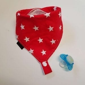 Red Stars Dummy Bib