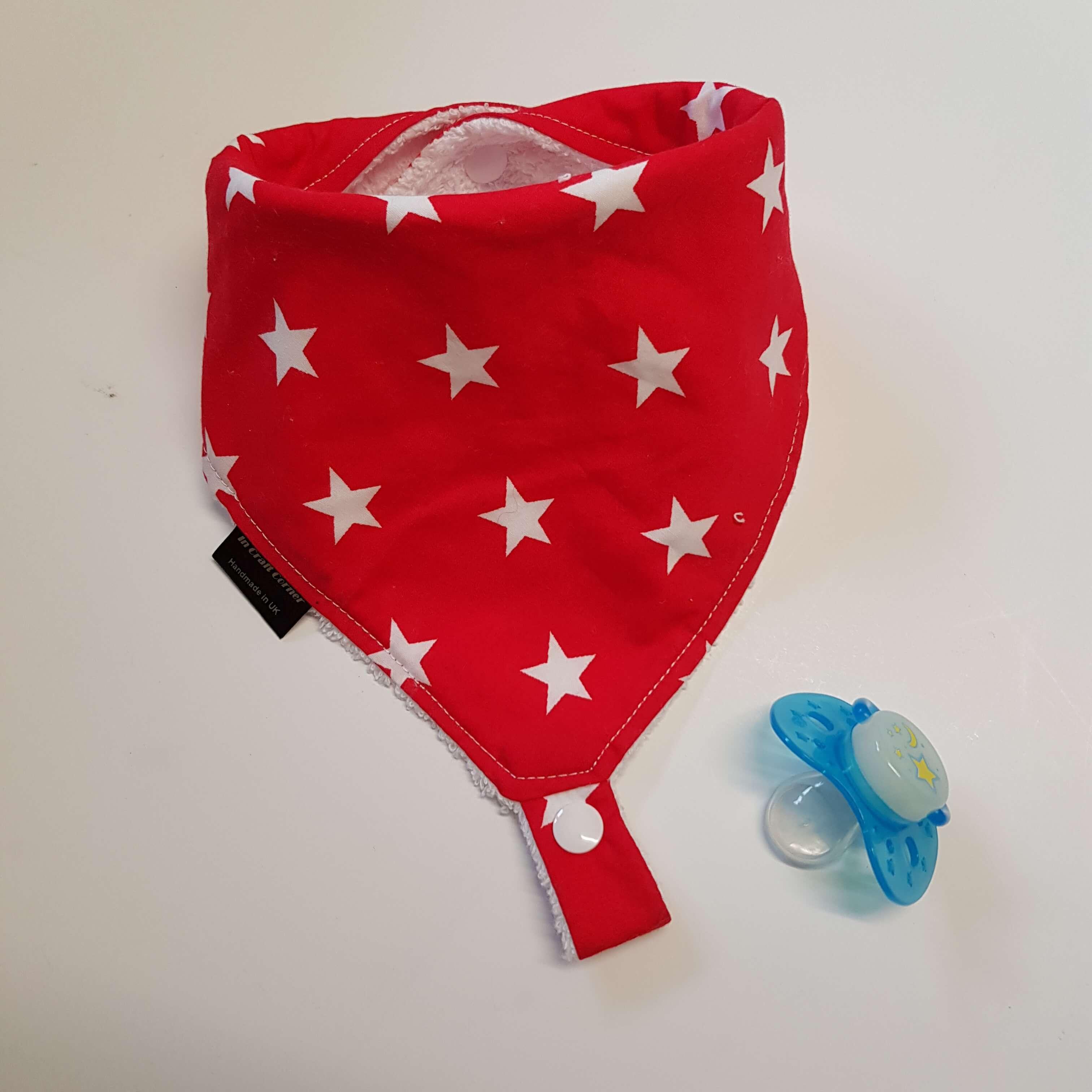 Red Stars Dummy Bib