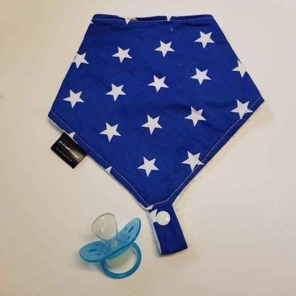 Blue Stars Dummy Bib