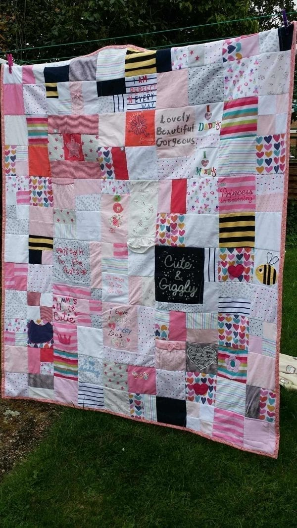 Cot Size Keepsake Memory Quilt