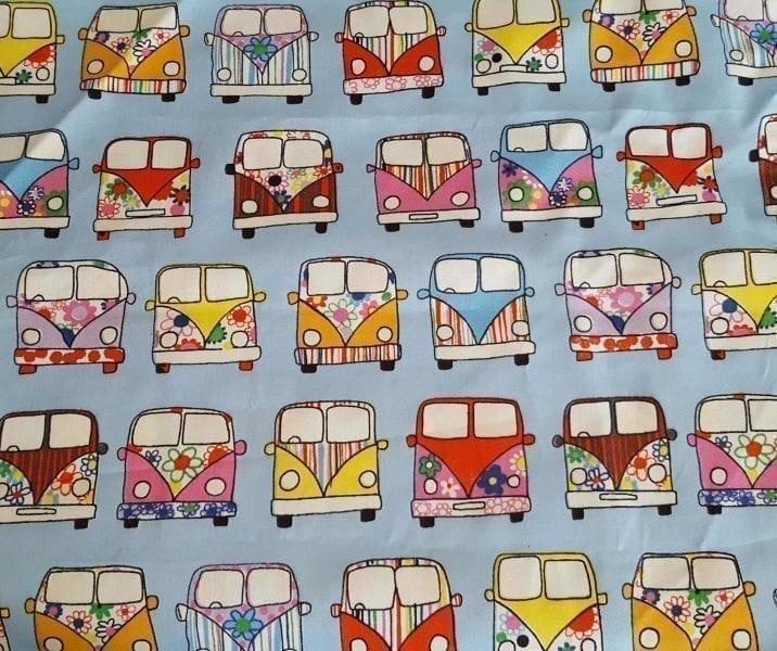 Blue Campervans Tag Comforter