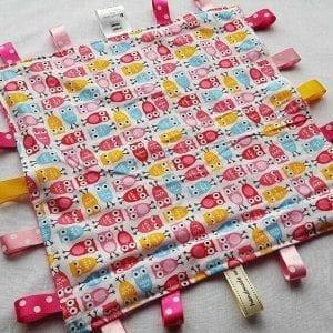 Pink Owls Tag Comforter