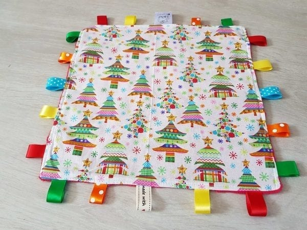 Christmas trees taggie blanket