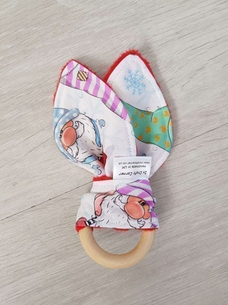 gnomes teething ring