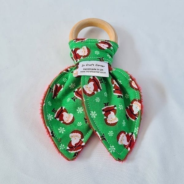 mini santa teething ring