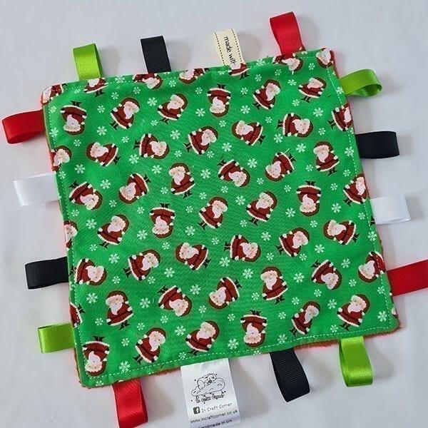mini santa taggie blanket