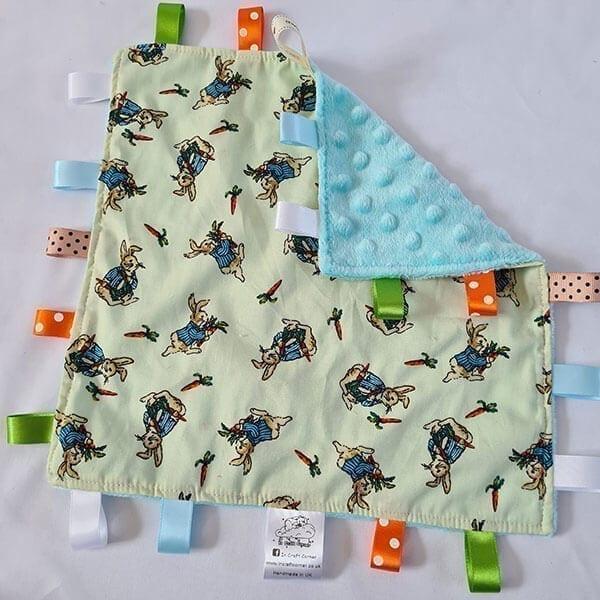 Peter rabbit taggie blanket