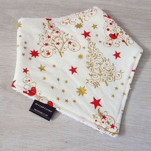 Ivory trees dribble bib