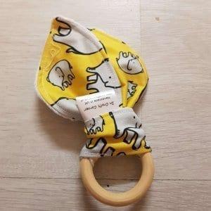 Yellow Elephants Teething Ring