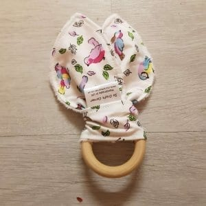Ivory Birds Teething Ring