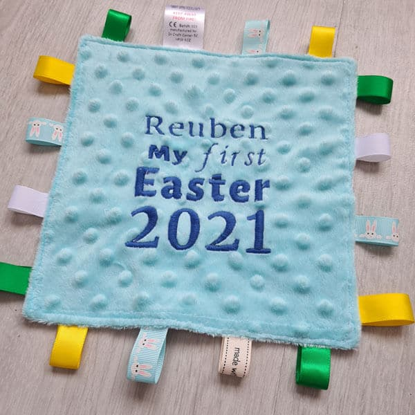 1st Easter Taggie Blanket 2021
