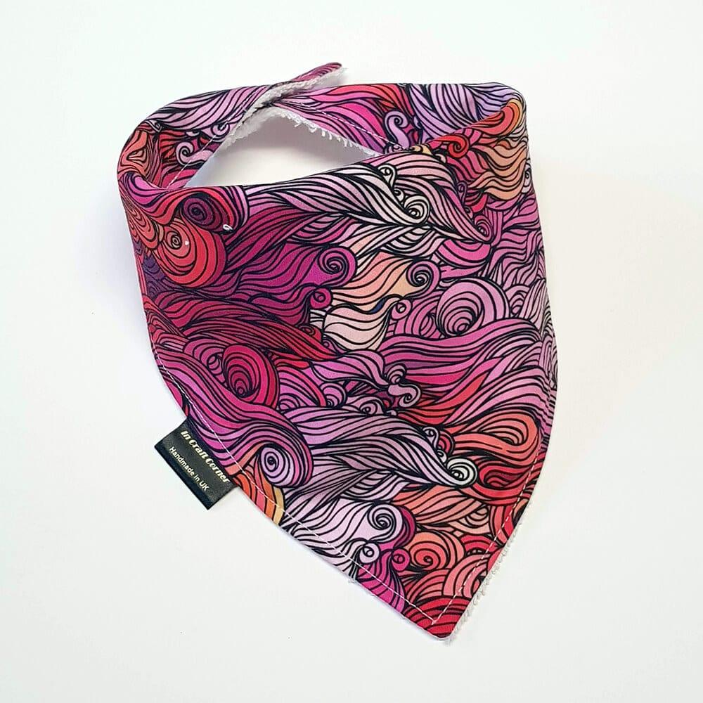 Pink Waves Dribble Bib
