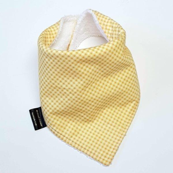 Yellow Gingham Dribble Bib