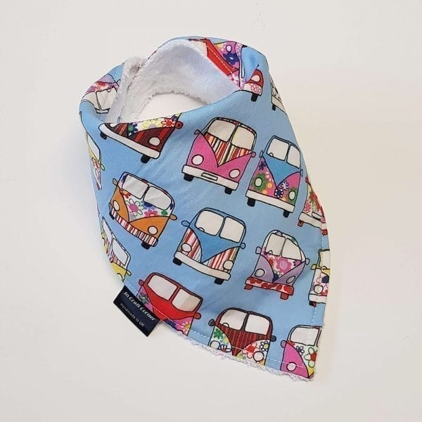 Blue Campervan Dribble Bib