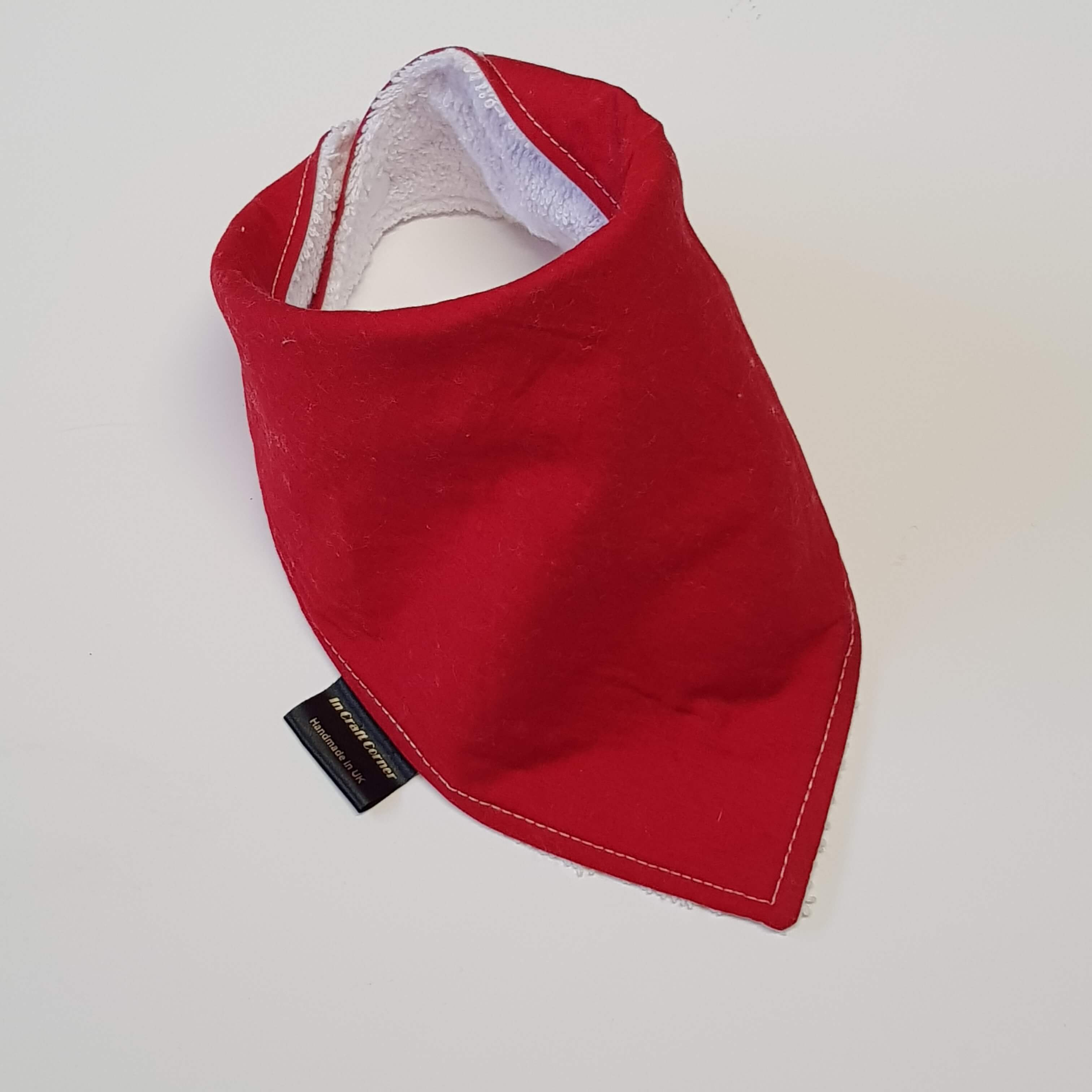 Plain Red Dribble Bib