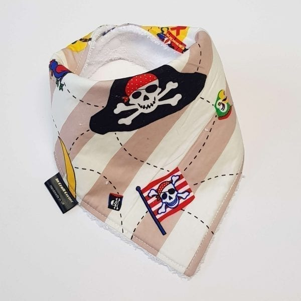 Cream Stripe Pirate Dribble Bib