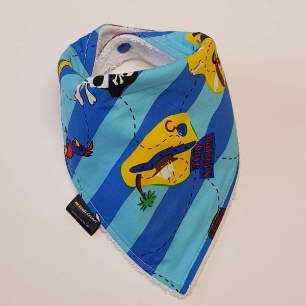 Blue Stripe Pirate Dribble Bib