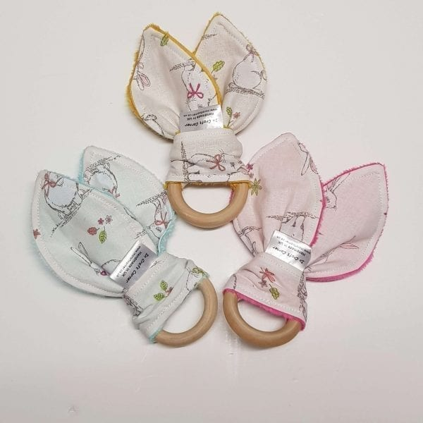 Ivory Bunny Rabbit Teething Rings