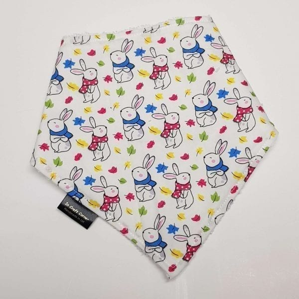 Bright Bunny Rabbits Dribble Bib