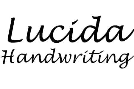 Lucida Handwriting