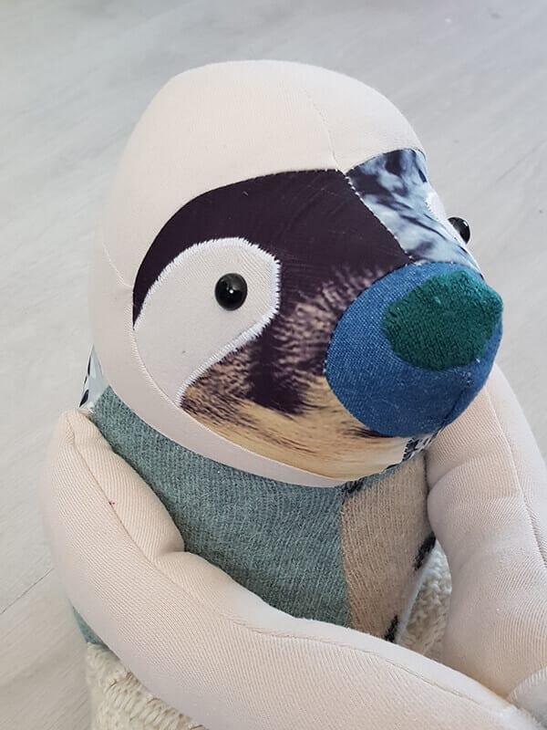 Memory sloth up close