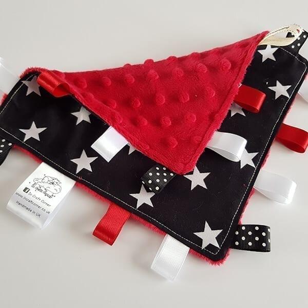 Black Stars Taggie Blanket