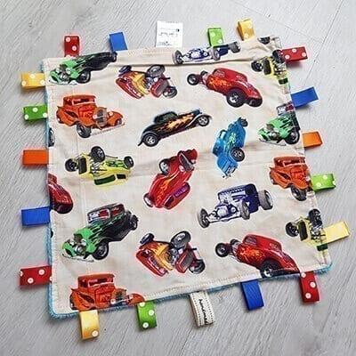 Roadsters Large taggie blanket