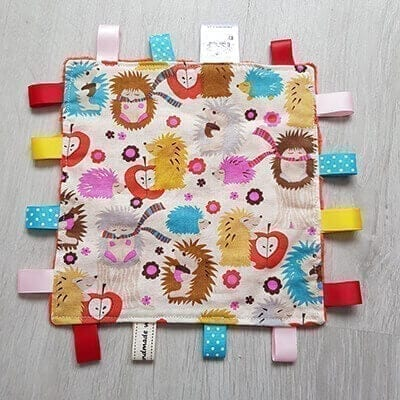 hedgehogs taggie blanket