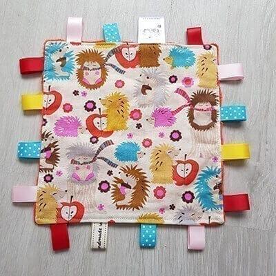 hedgehogs taggie blanket