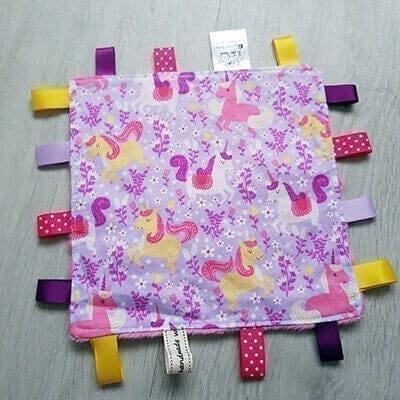 Unicorn regular taggie blanket