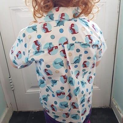 Dinosaur shirt back