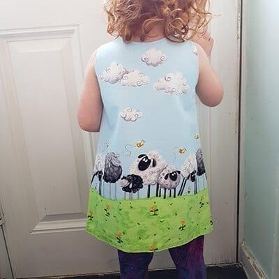 Sheep Dress back