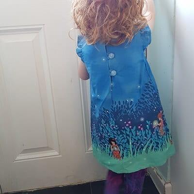 Simple blue dress 2-3yrs