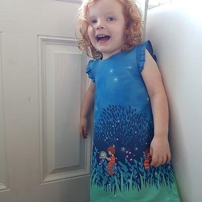 Blue dress 2-3yrs