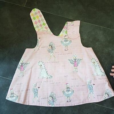 Pink cross over dress