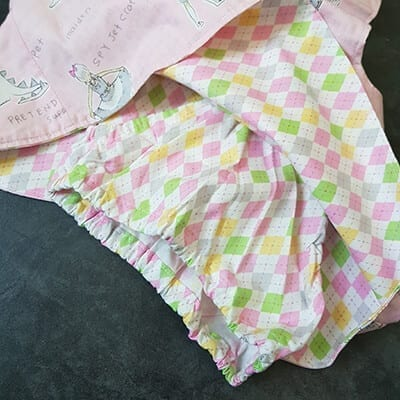 Inside pink cross over dress