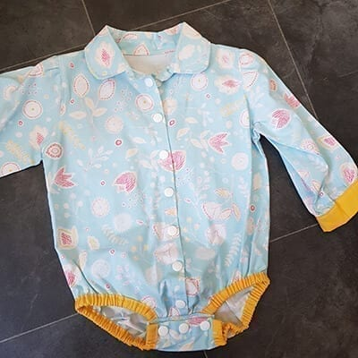 Blue Floral vest bodyduit