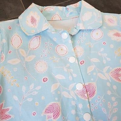 Blue Floral Vest Bodysuit