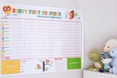 Babys First Calendar