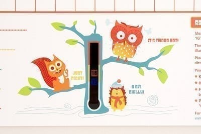 Babys first calendar thermometer