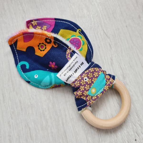 elephant romp teething ring