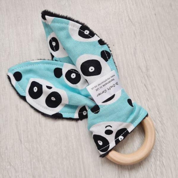 Blue Panda Teething Ring