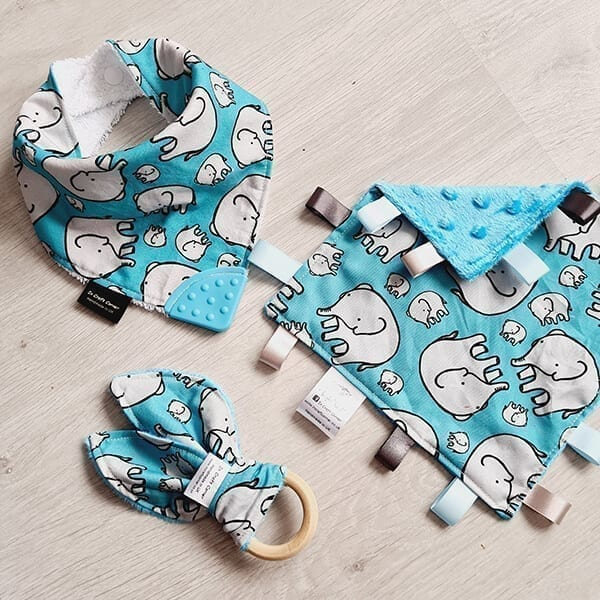 blue elephants 3 piece bundle