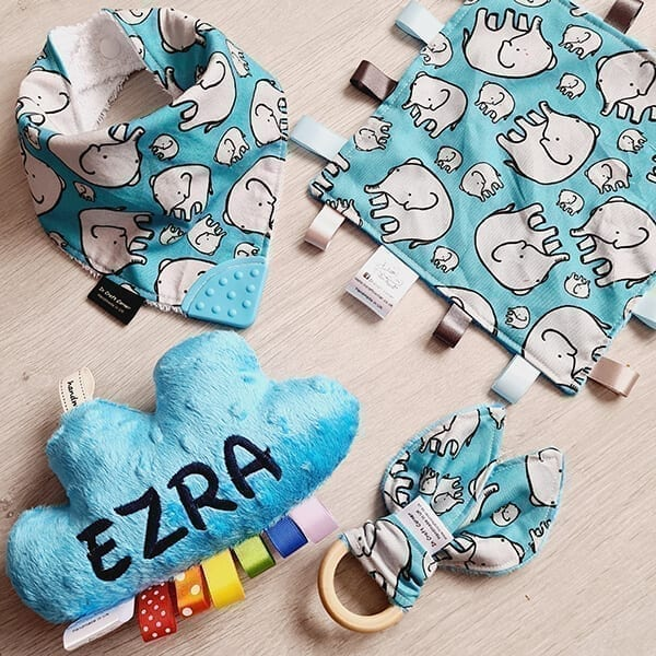 blue elephants 4 piece bundle