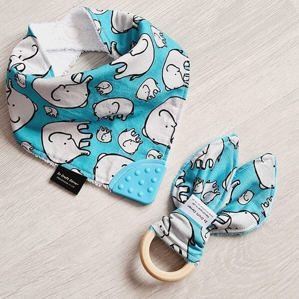 blue elephant teething bundle