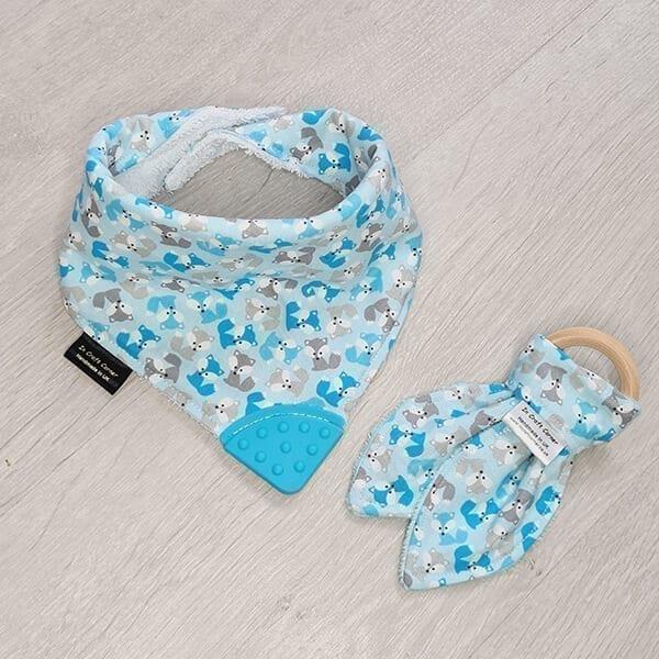 Blue foxes teething bundle