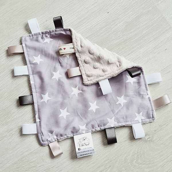 grey stars taggie blanket