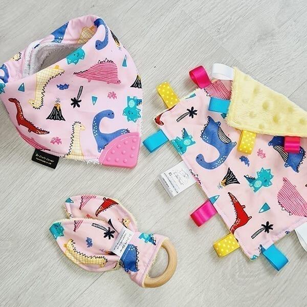 Pink dino 3 piece bundle
