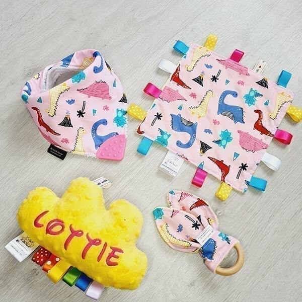 pink dinos 4 piece bundle